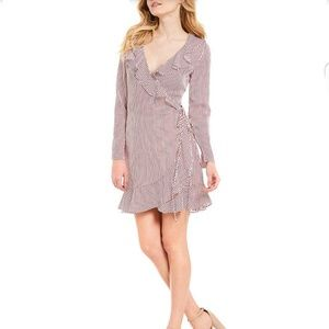 New Women's Wrap Dress Long Sleeve